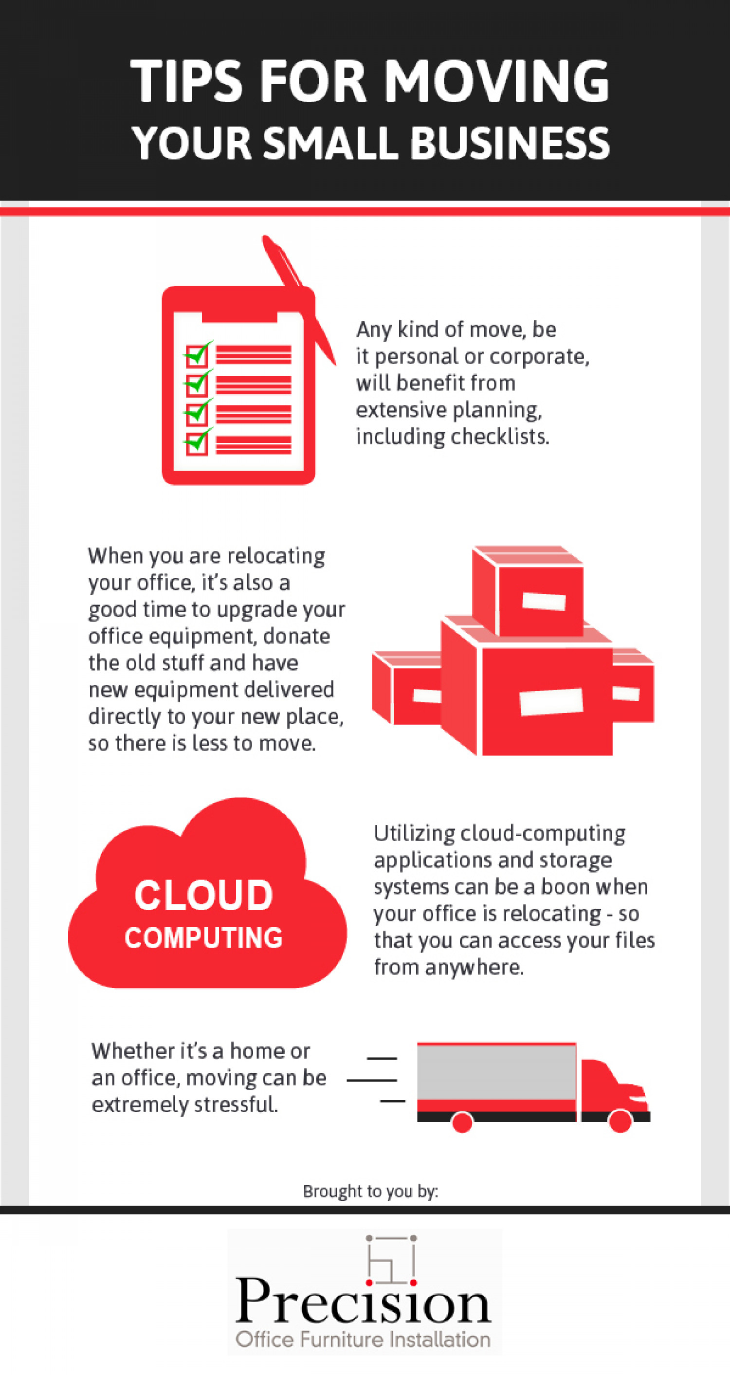 Tips For Moving Your Small Business Infographic
