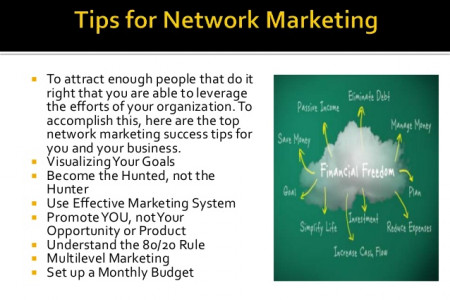 Tips for Networking Marketing Infographic