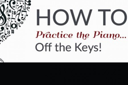 Tips for Practicing the Piano AWAY From the Keys Infographic