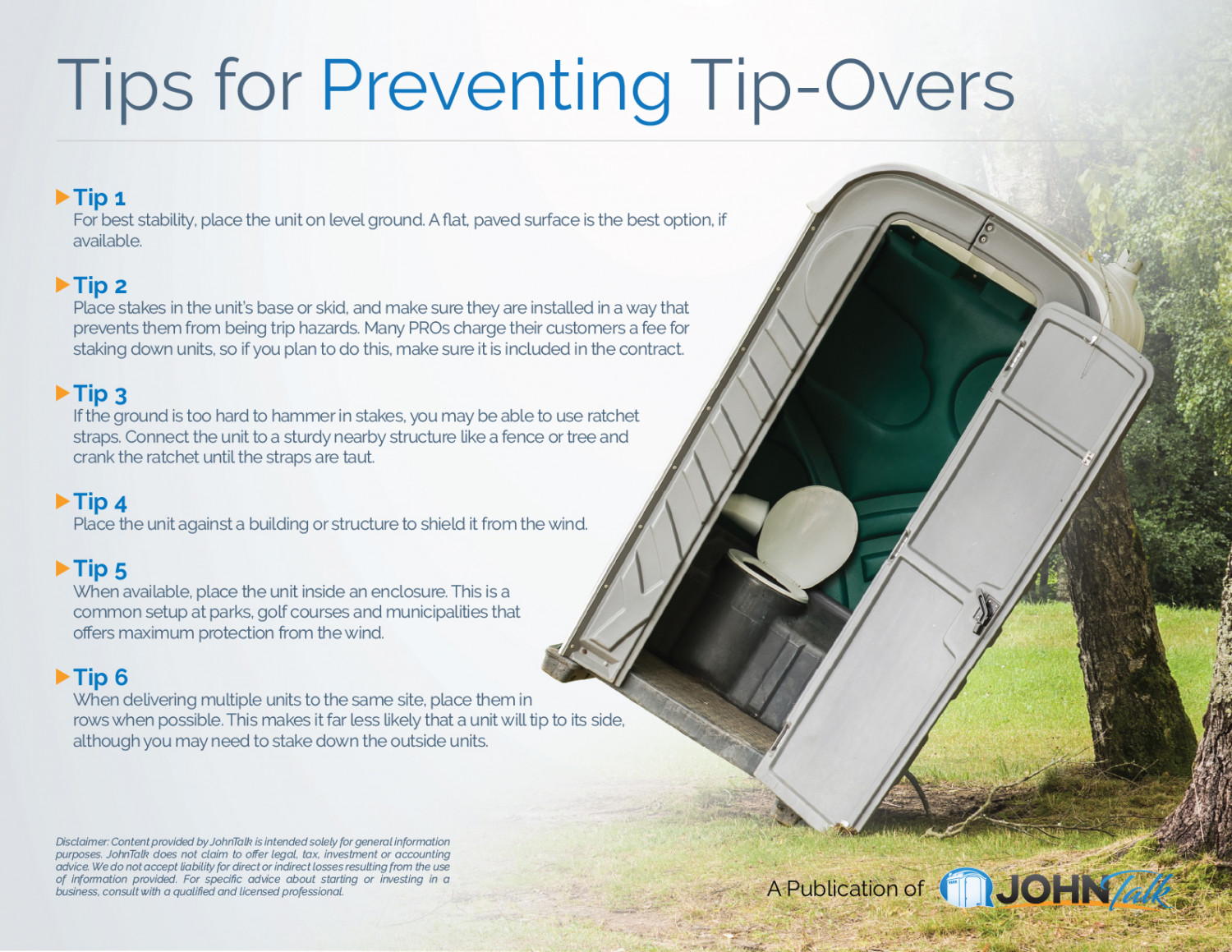 Tips for Preventing Tip-overs ... Infographic