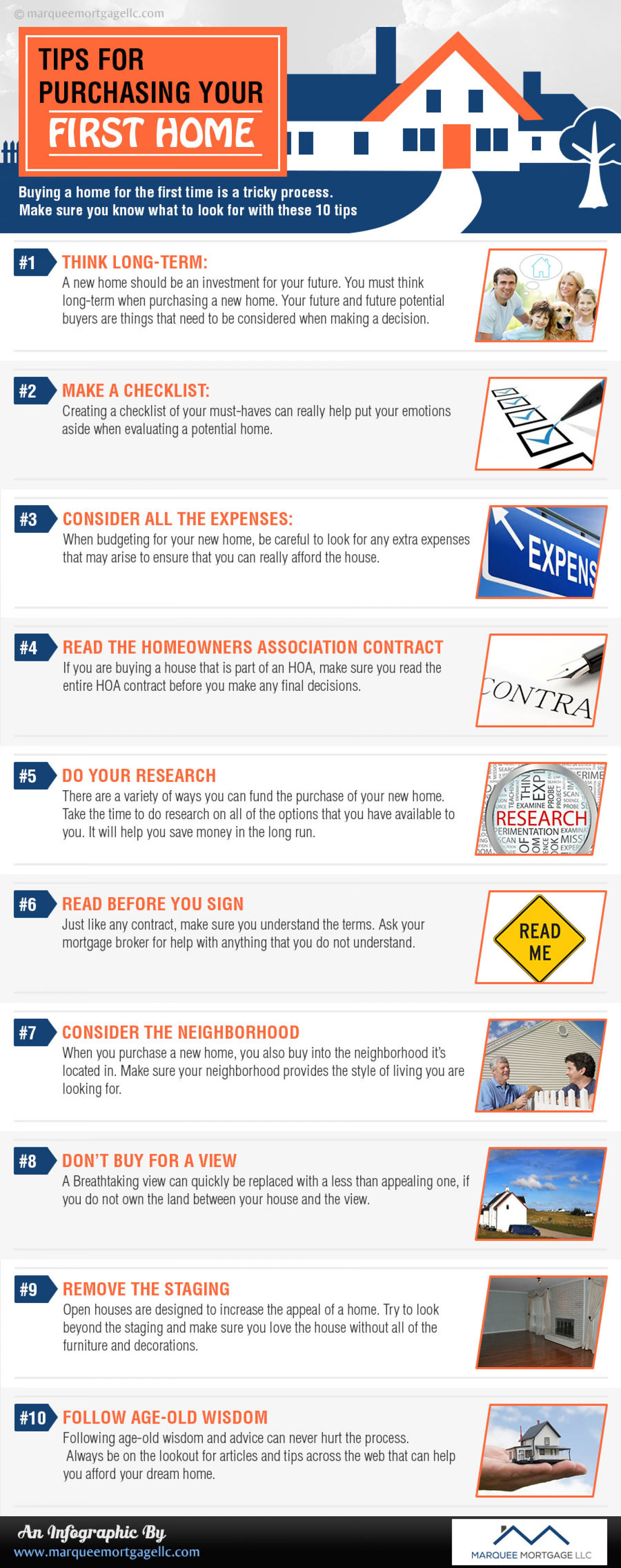 Tips for Purchasing Your First Home  Infographic