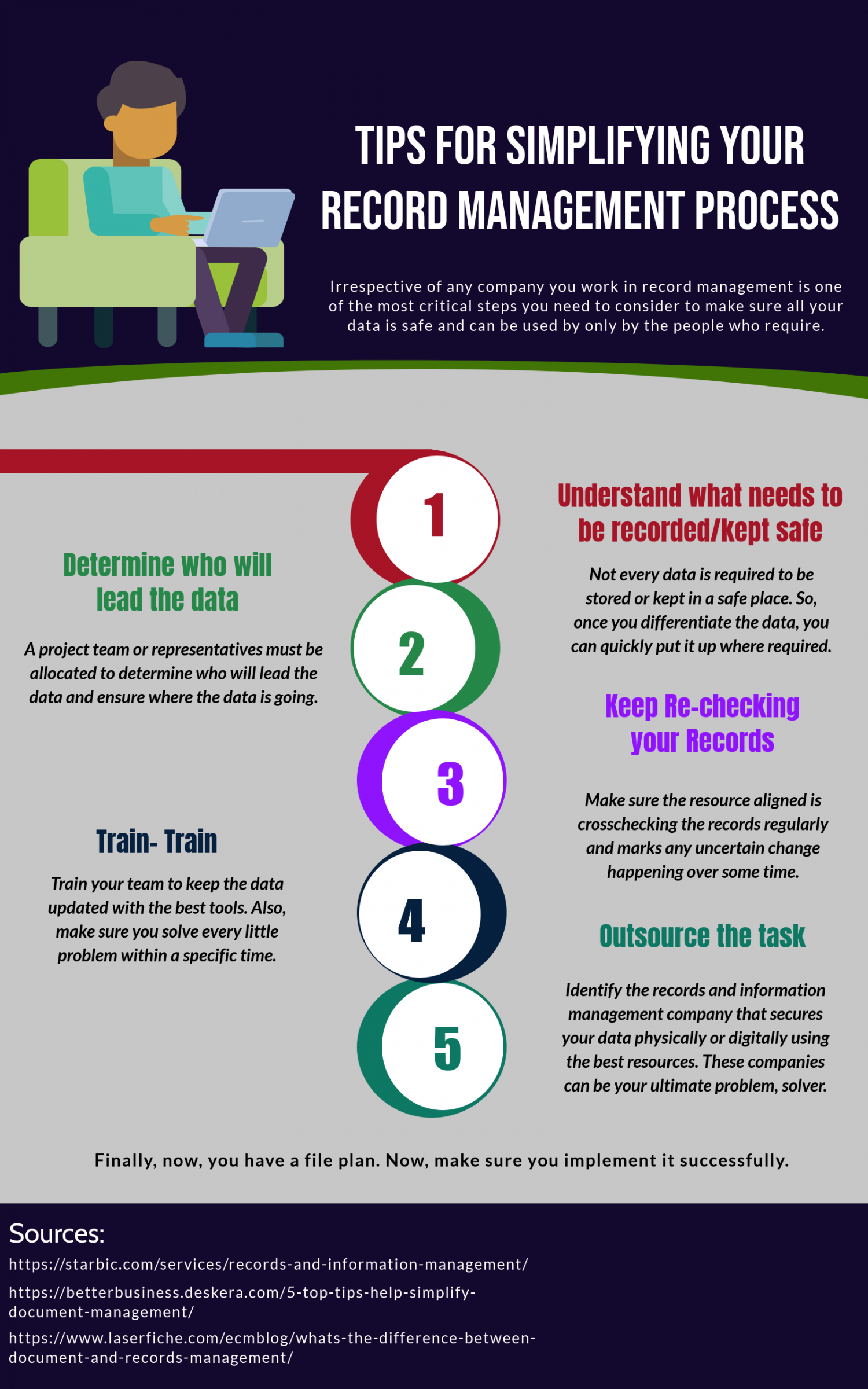 Tips for Simplifying Your Record Management Process Infographic