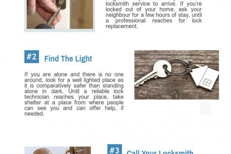 Tips For Staying Safe During a Lockout Infographic
