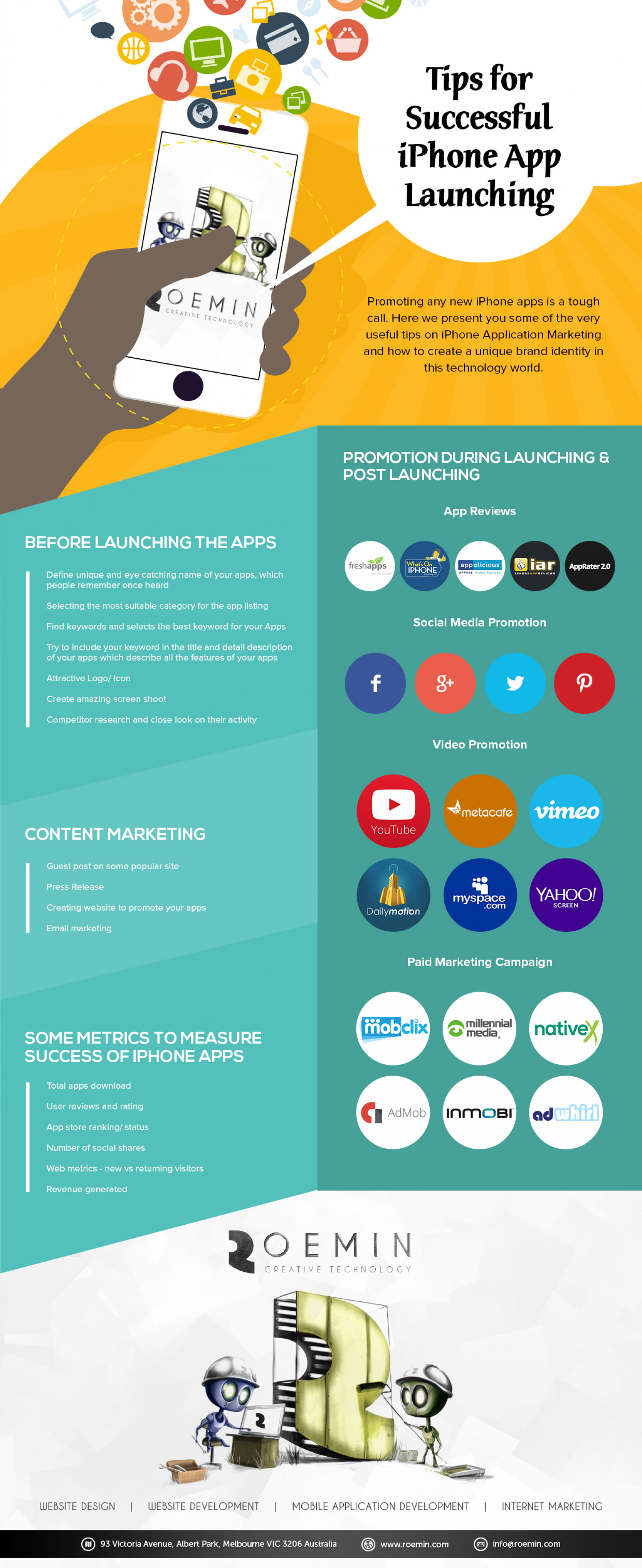 Tips for Successful Launching of iPhone Application Launching Infographic