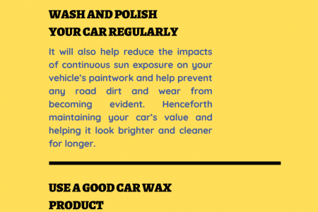 TIPS FOR TAKING CARE OF YOUR CAR'S CLEAR COAT Infographic
