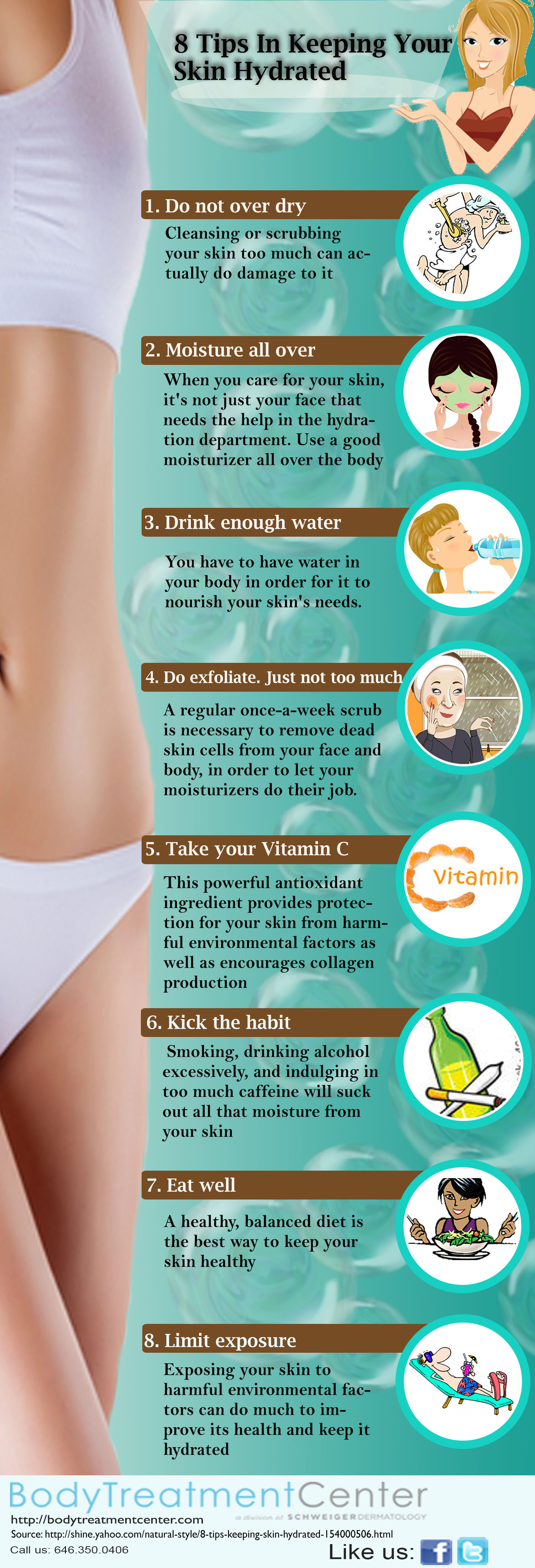 Tips in Keeping Your Skin Hydrated Infographic
