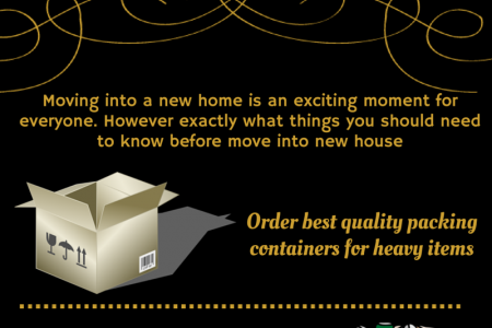 Tips on How to Move Into a New House Infographic