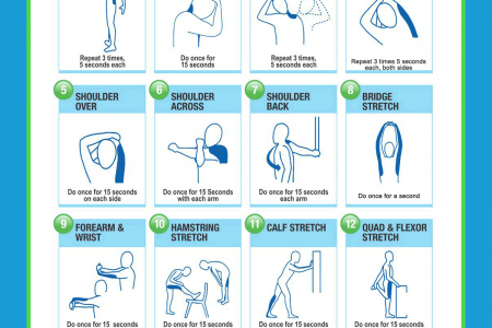 Tips on Office Desk Stretches Infographic