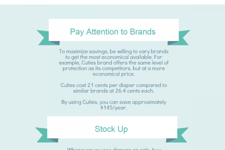 Tips on Saving Money on Diapers Infographic