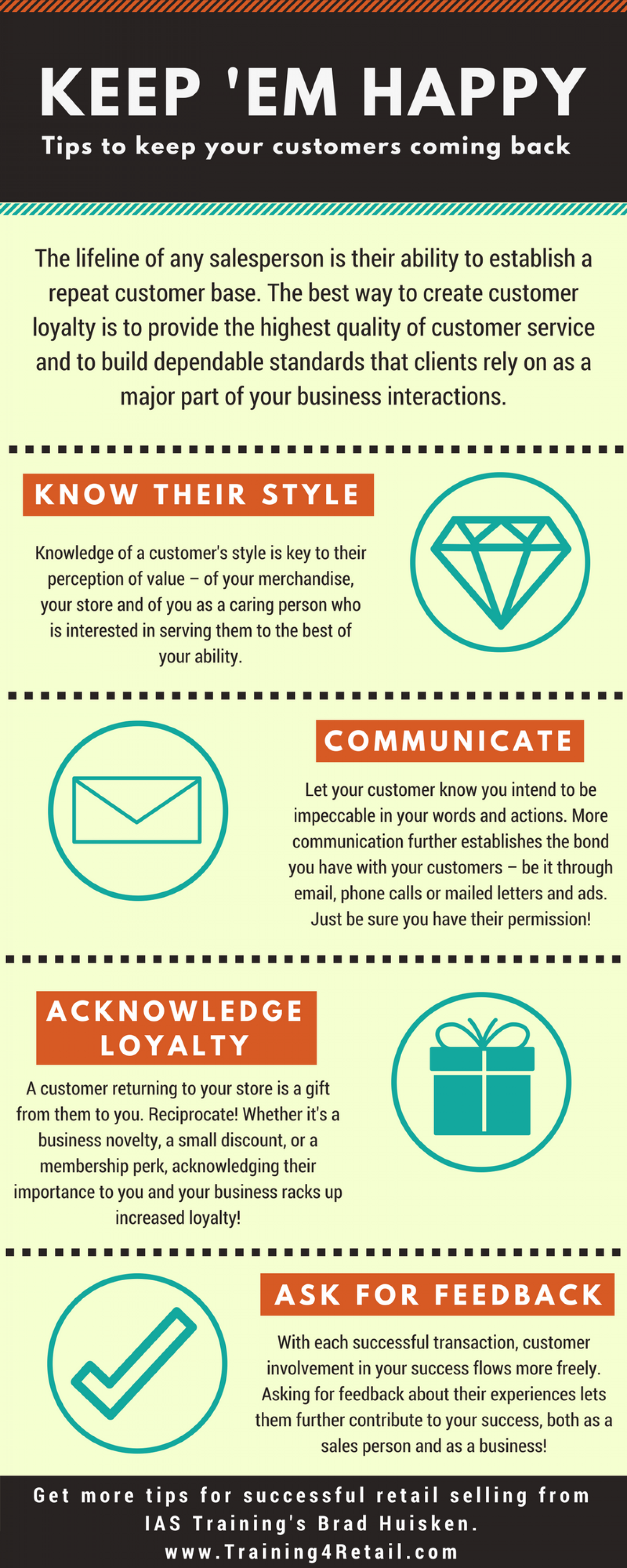 Tips to Build Customer Loyalty Infographic