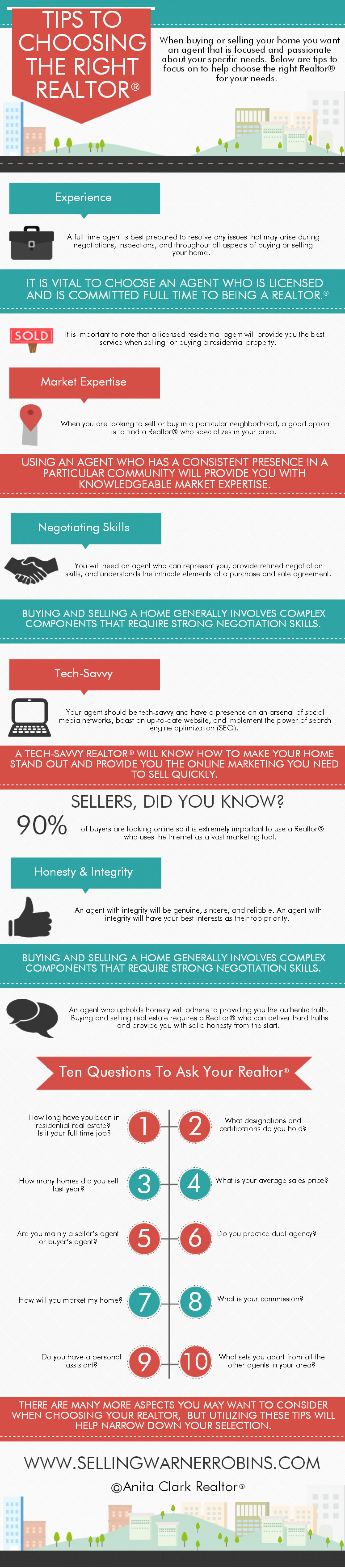 Tips to Choosing the Right Realtor Infographic