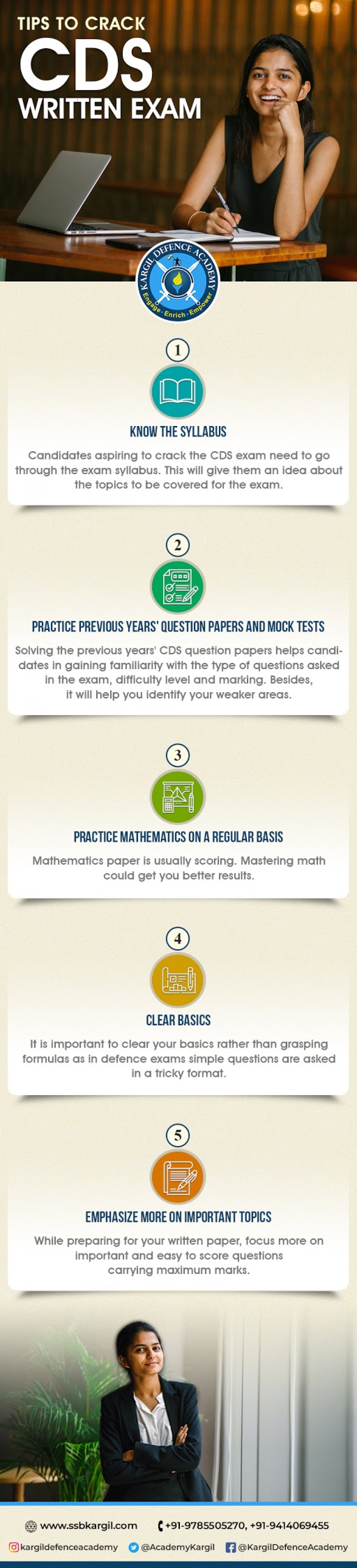Tips to crack CDS written exam Infographic