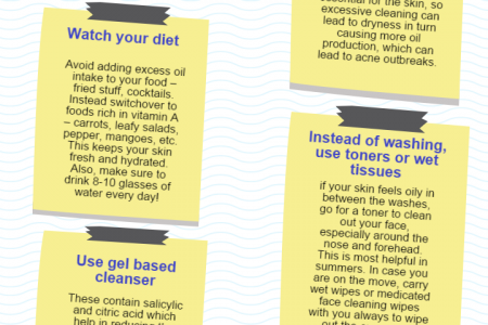 Tips To Deal With Oily Skin Infographic