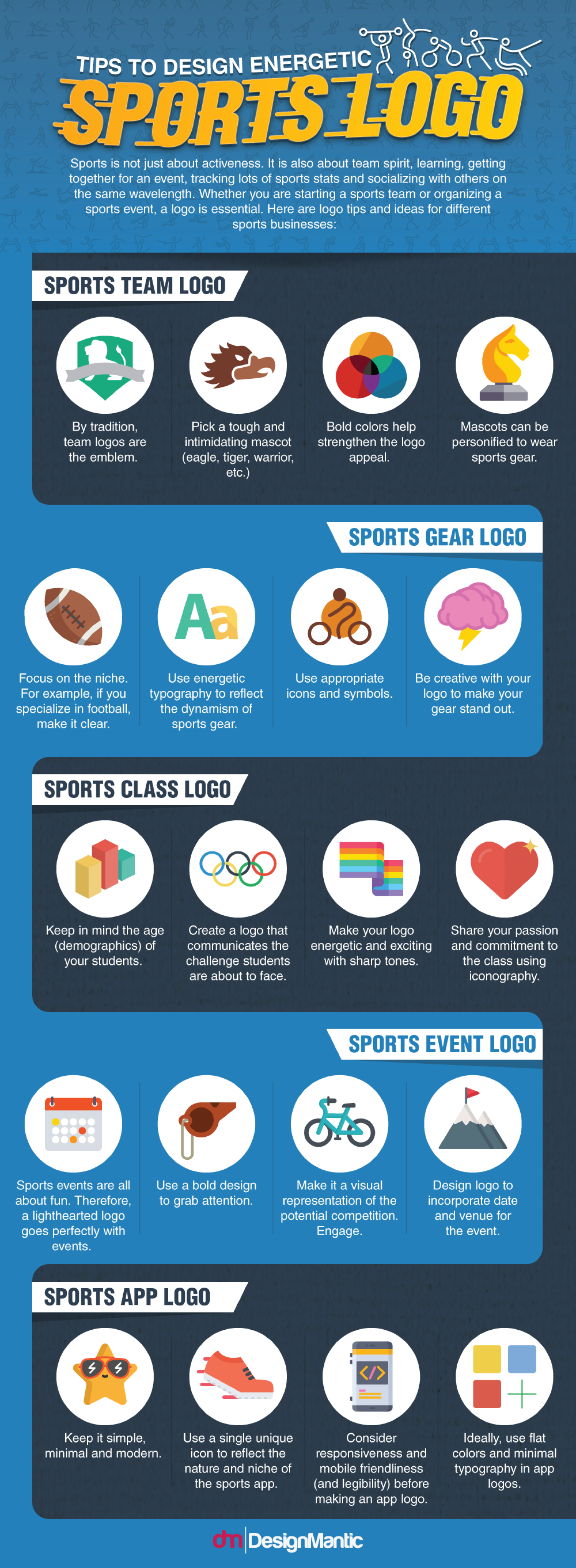 Tips To Design Energetic Sports Logo Infographic