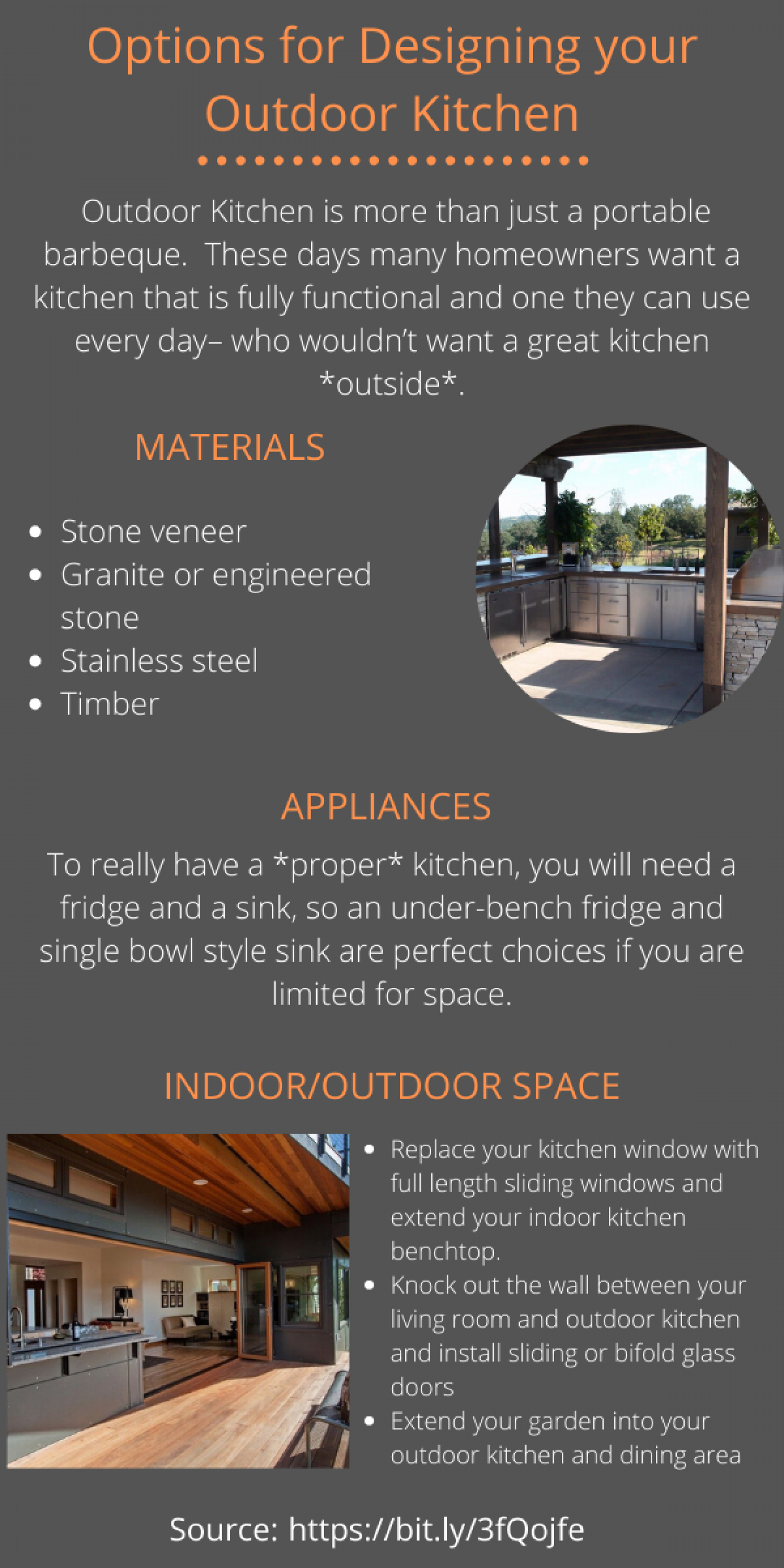 Tips to Designing an Outdoor Kitchen Infographic
