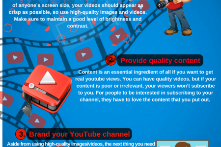 Tips To Get A Bigger Audience On YouTube Infographic