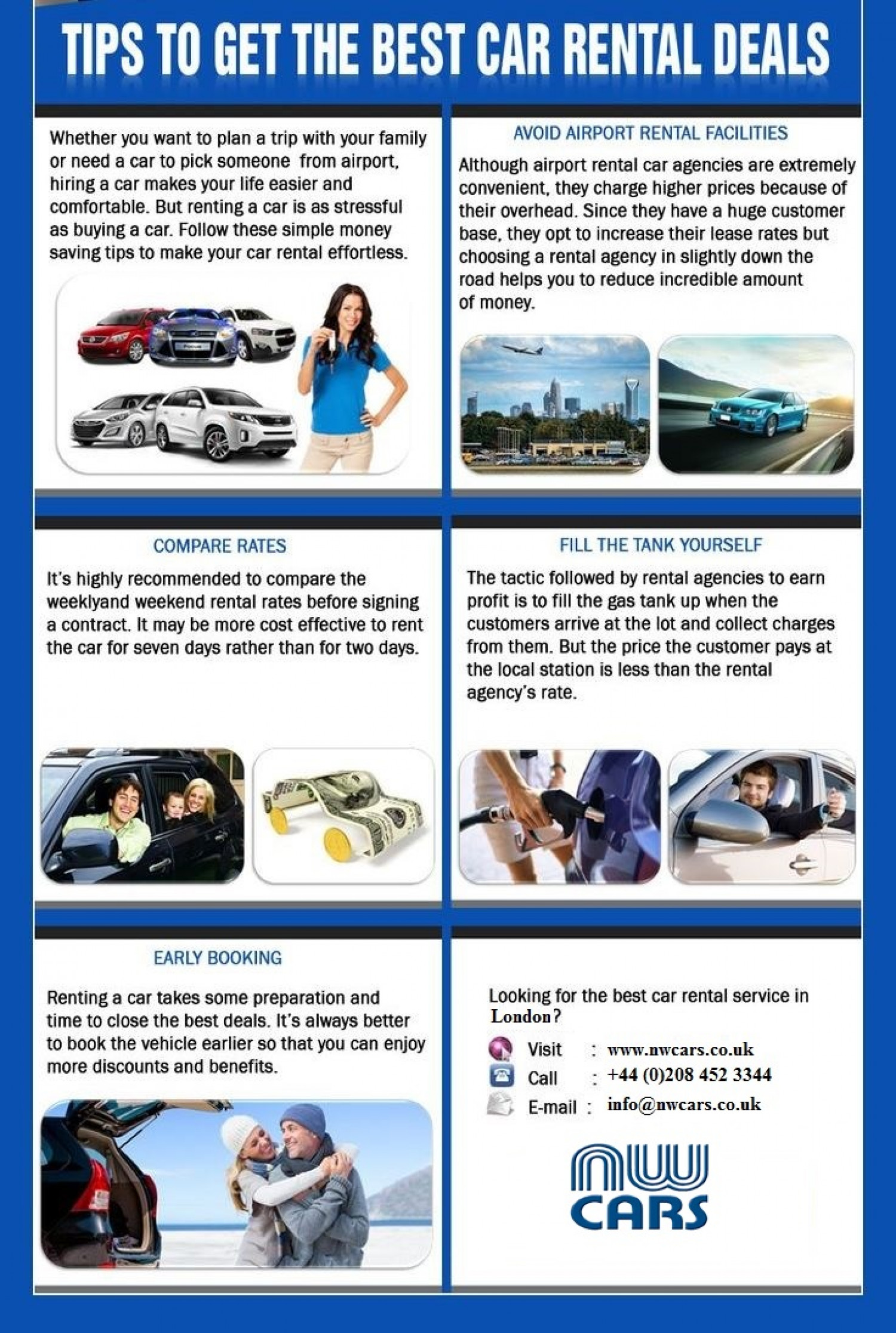 Tips to get the best car rental deals infographic