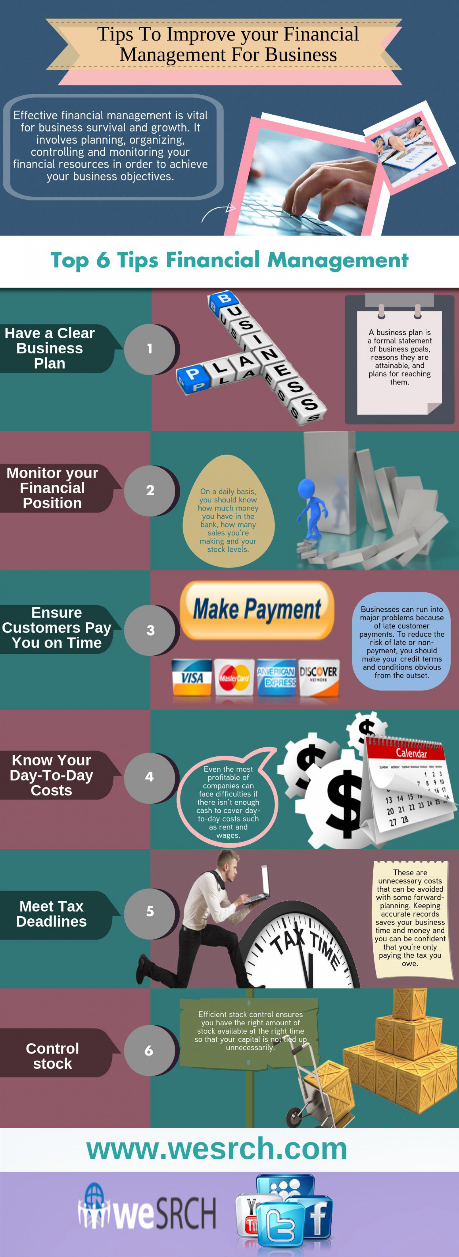 Tips To Improve your Financial Management For Business  Infographic