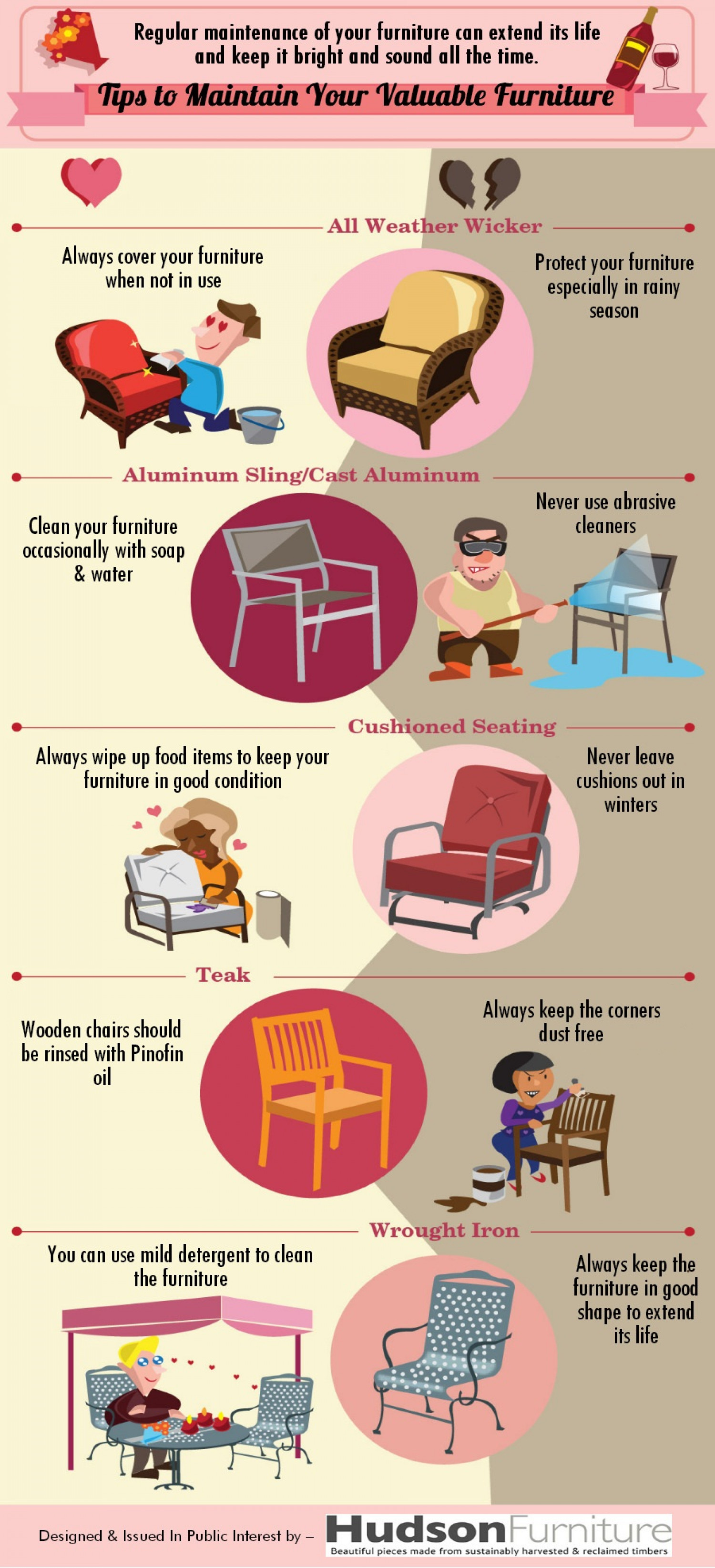 Tips to Maintain Your Valuable Furniture Infographic