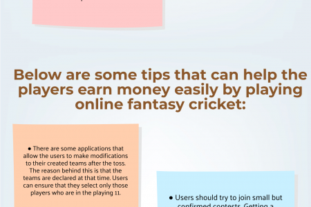 Tips To Make Easy Money From Fantasy Cricket Apps Infographic