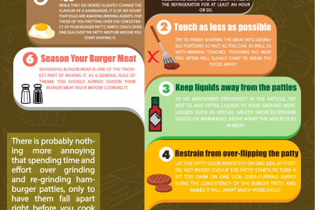 Tips To Make Your Hamburger Meat Stick Together Infographic