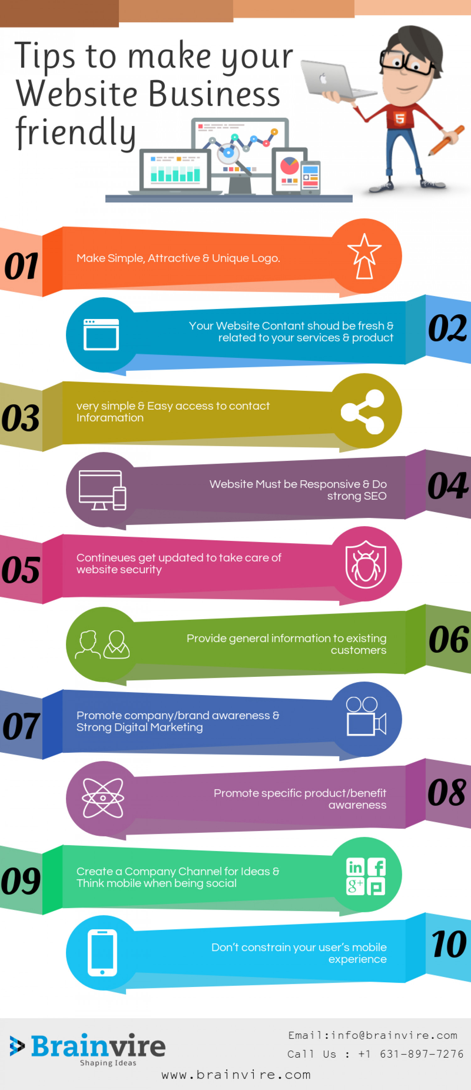 Tips to make your Website Business friendly Infographic