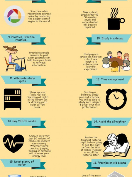 Tips to Prepare For Exams Infographic
