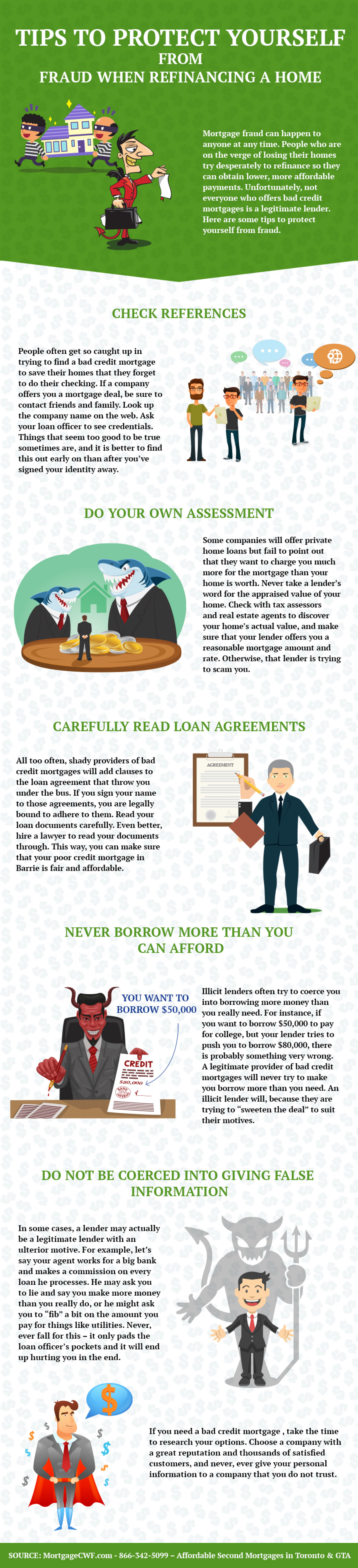 Tips to Protect Yourself from Fraud when Refinancing a Home Infographic