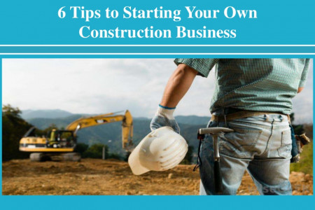 Tips to Starting Your Own Construction Business Infographic