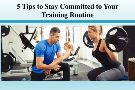 Tips to Stay Committed to Your Training Routine Infographic