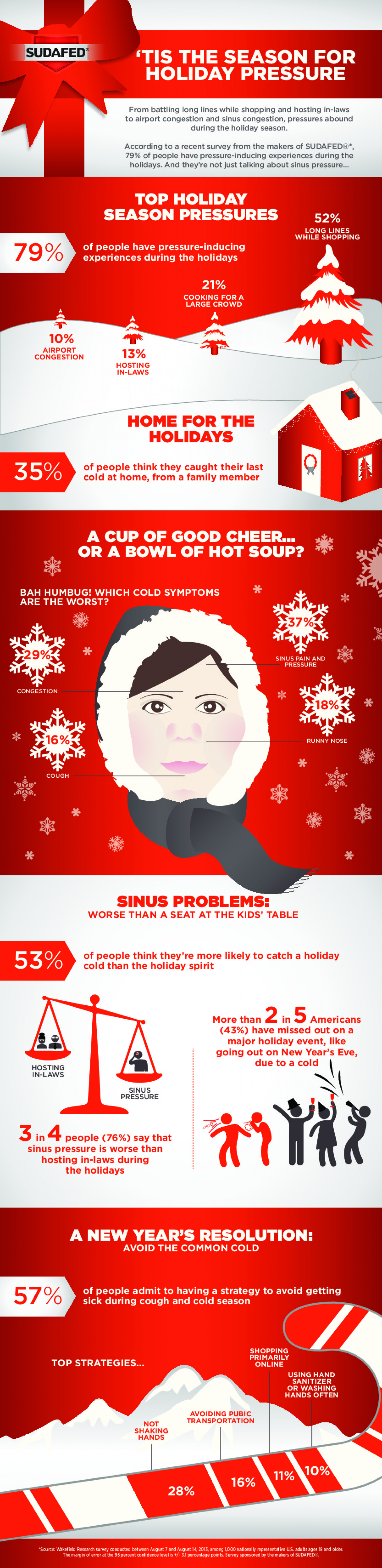 'Tis The Season For Holiday Pressure Infographic