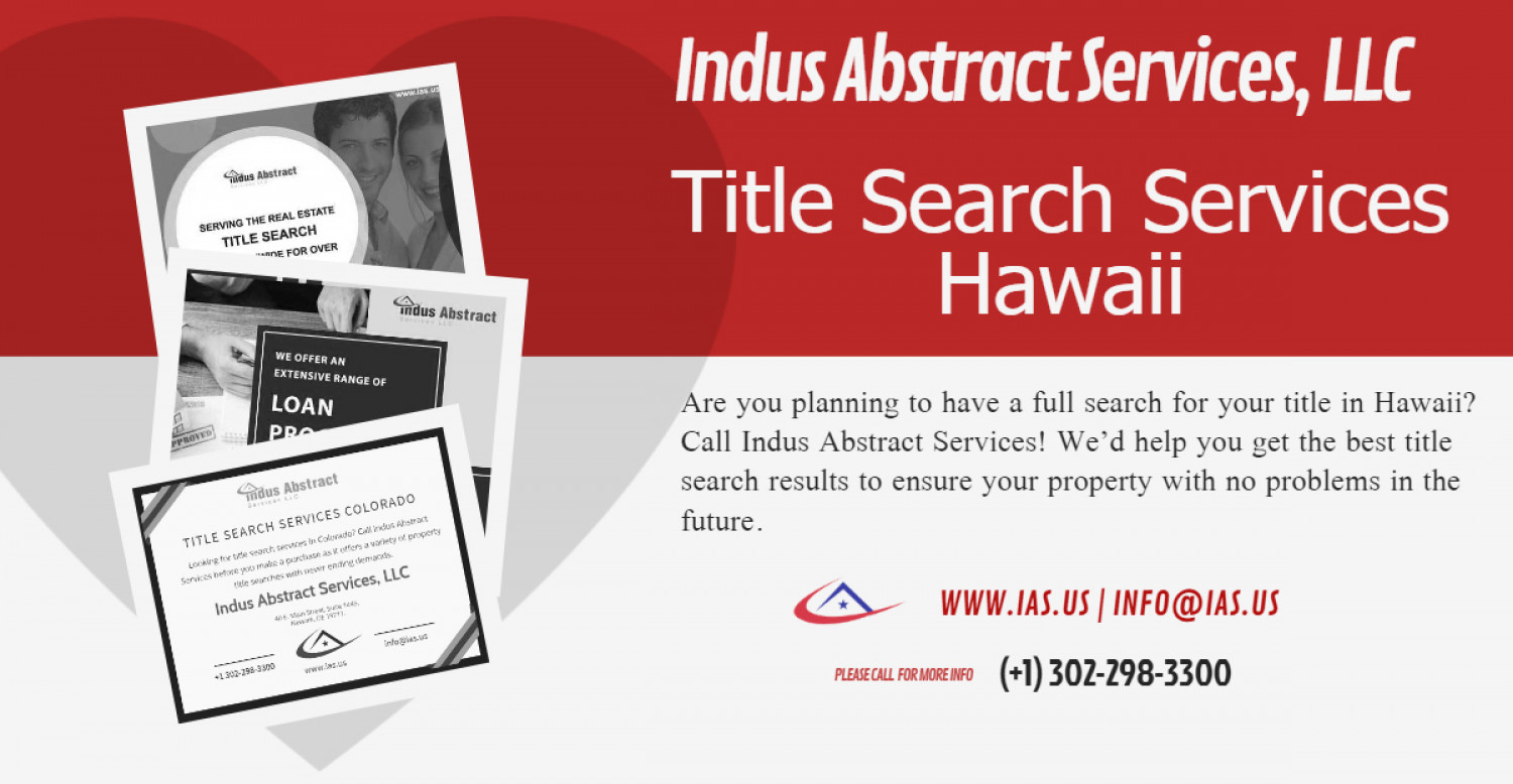Title Search Services Hawaii Infographic