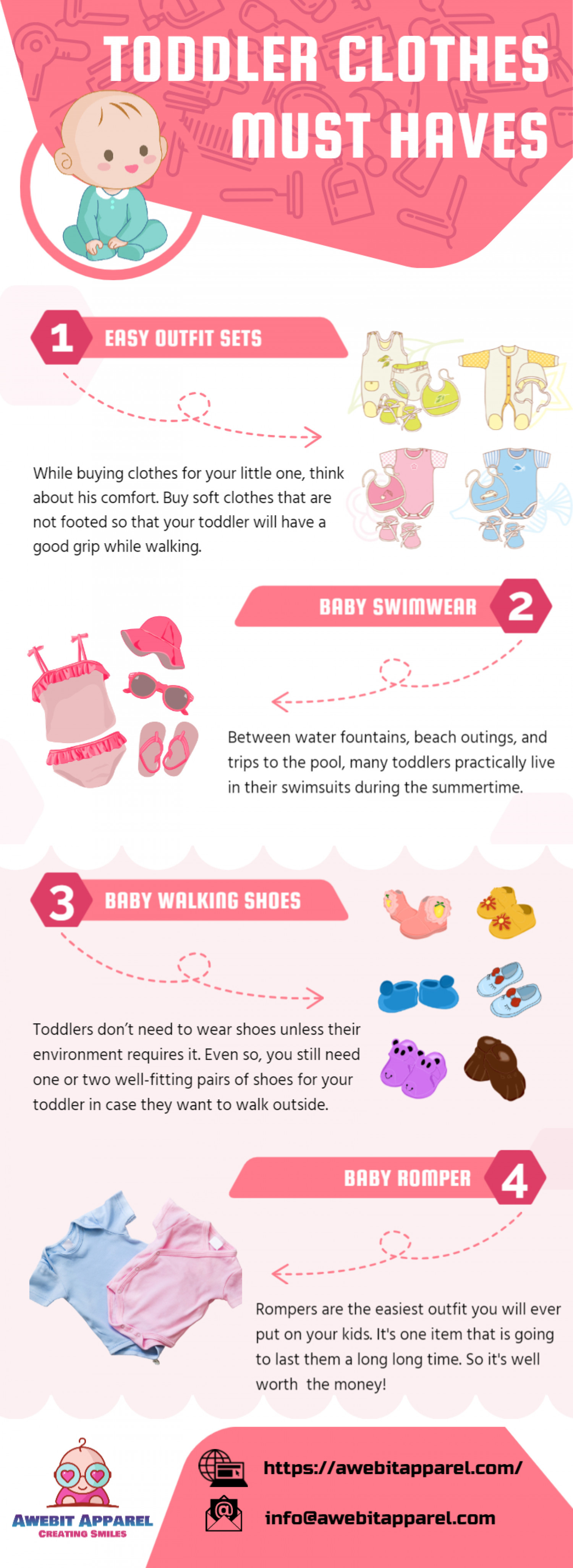 Toddler Clothes Must Haves Infographic