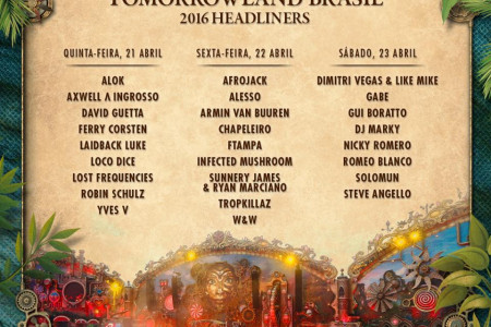 Tomorrowland 2016 Brasil Lineup Infographic