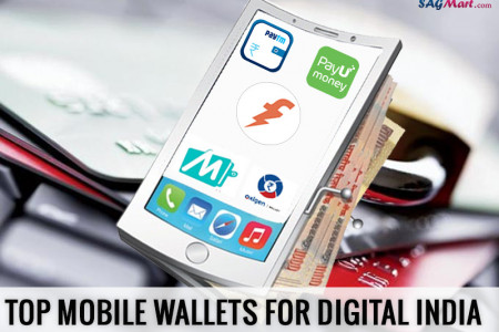 Top  5 Mobile Wallets in India Infographic