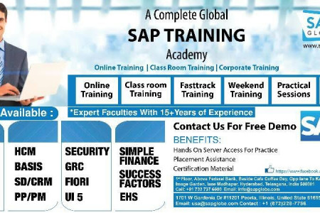 Top & Best SAP Course Training Institute in Hyderabad,Madhapur Infographic