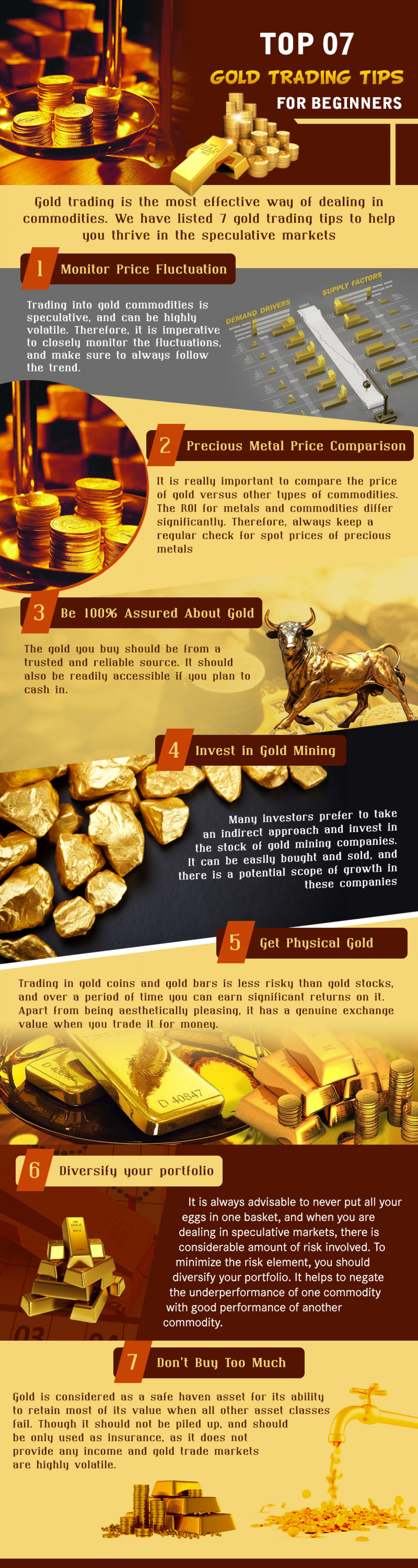 Top 07 Gold Trading Tips for Beginners Infographic
