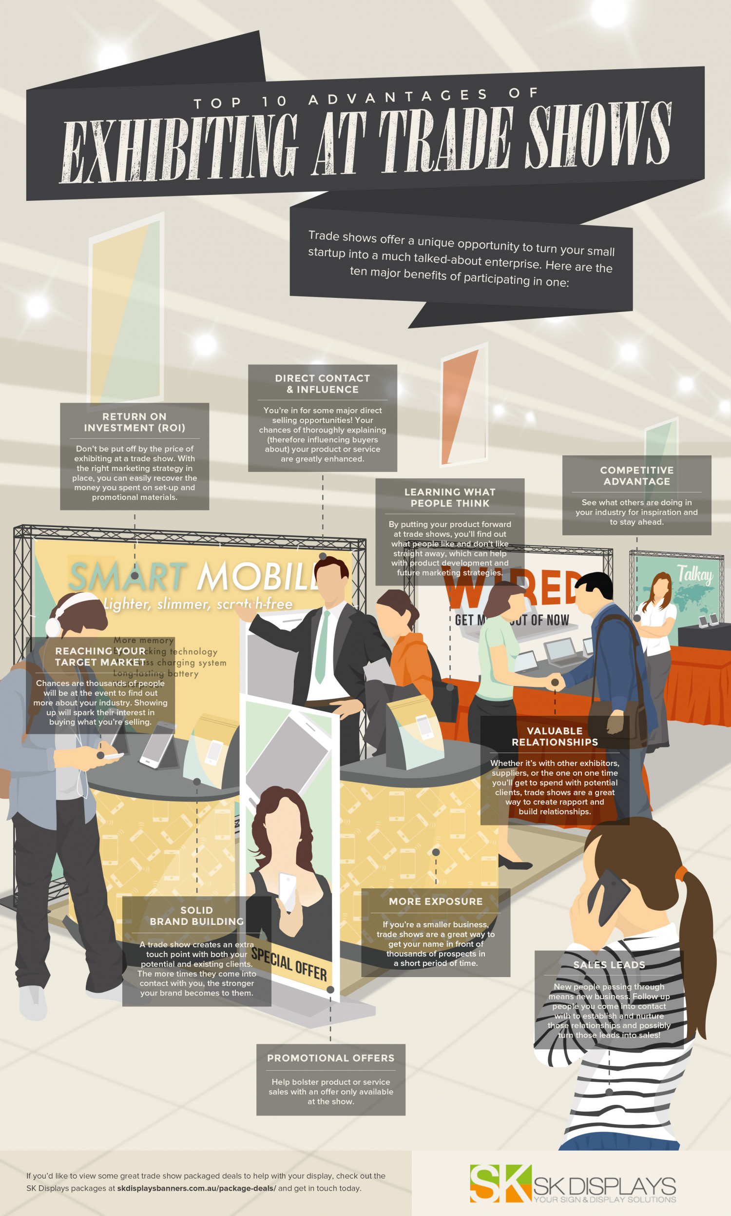 Top 10 Advantages of Exhibiting at Trade Shows Infographic