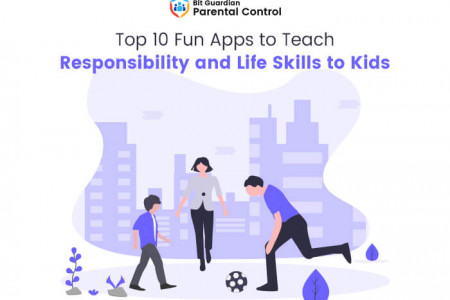 Top 10 Apps for Kids to Learn Responsibility and Life Skills Infographic