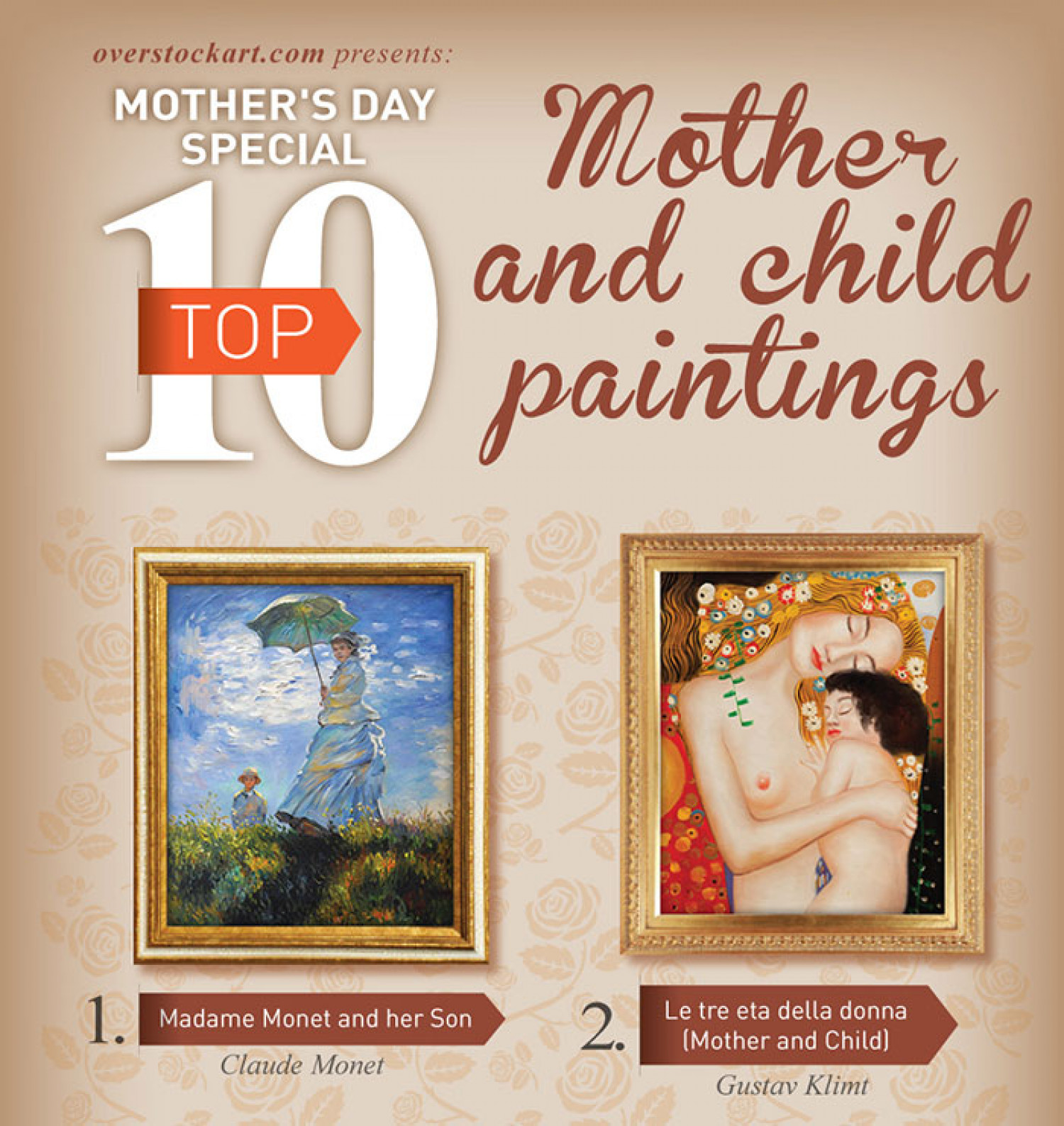 Top 10 Art for Mother's Day 2014 Infographic