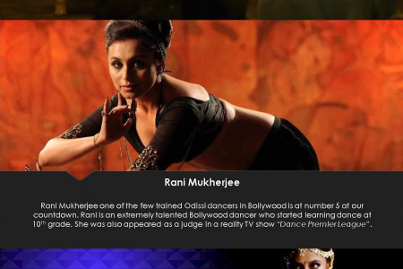 Top 10 Dancing Divas Of Bollywood Infographic