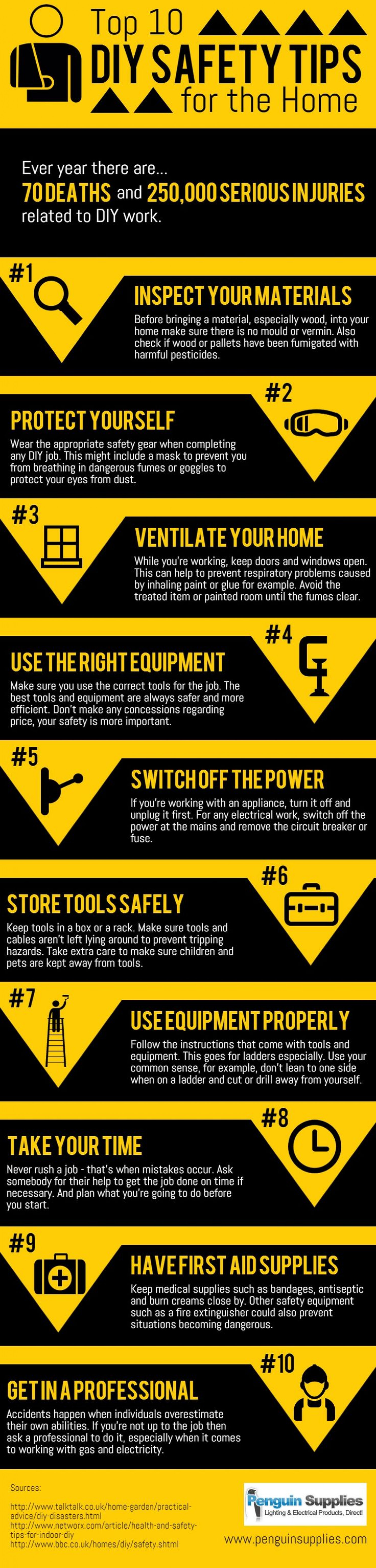 Top 10 DIY Safety Tips Infographic