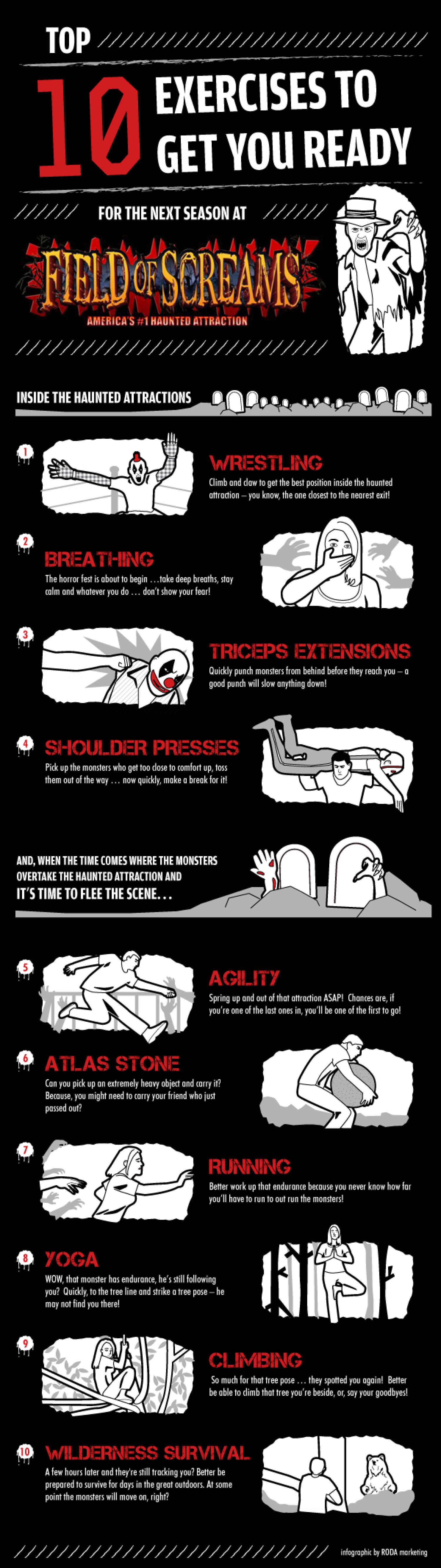 Top 10 Exercises To Get You Ready For Next Season At FOS Infographic