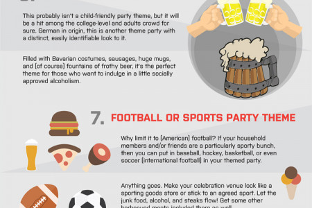 Top 10 Fall Party Themes Infographic