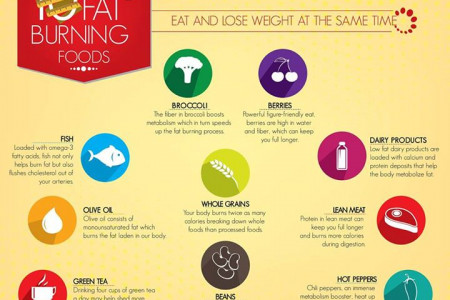 10 Fat Burning Foods Infographic