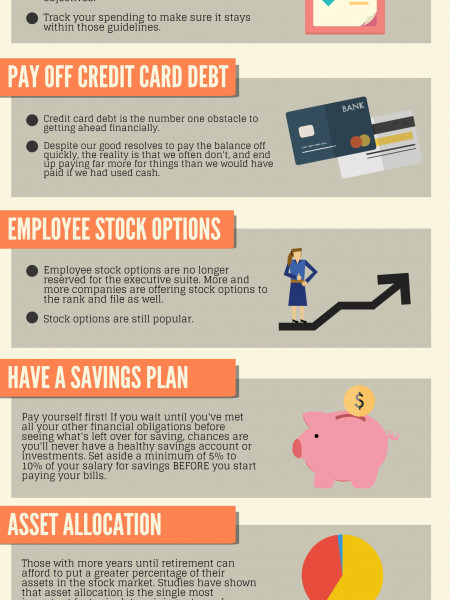Top Eight Financial Tips Infographic