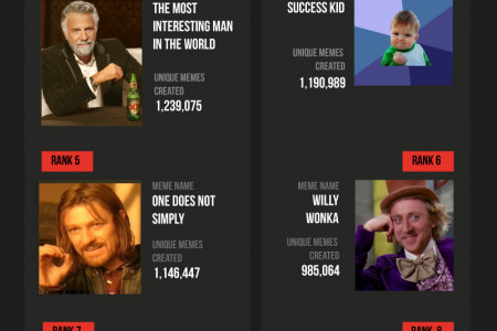 Top 10 memes of all time Infographic