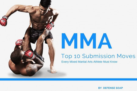Top 10: MMA Submission Moves Infographic