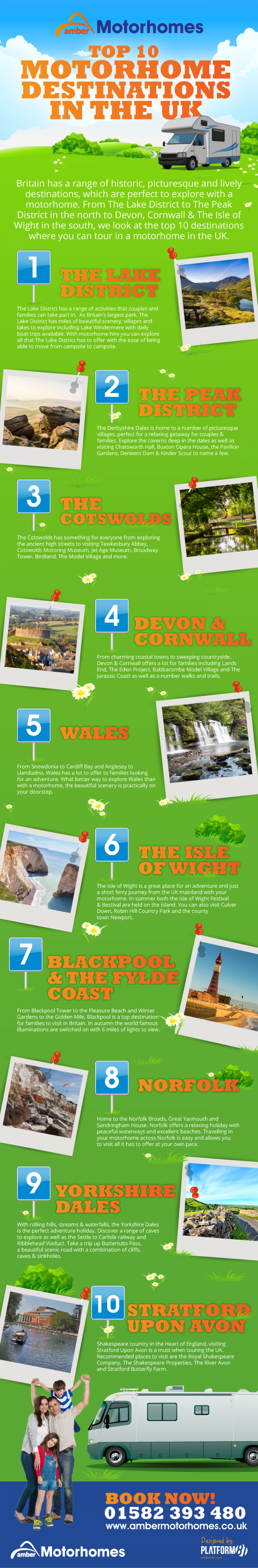 Top 10 Motorhome Destinations in the UK Infographic