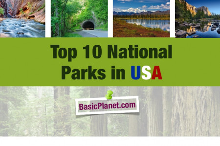 Top 10 National Parks in USA Infographic